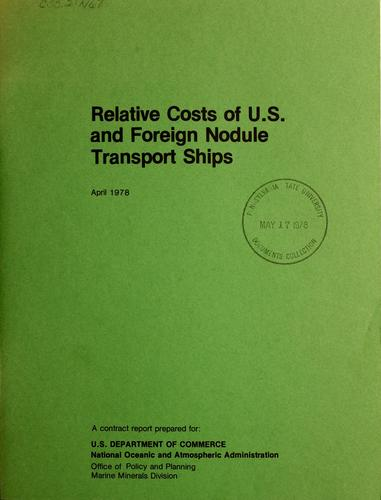 Download Relative costs of U.S. and foreign nodule transport ships