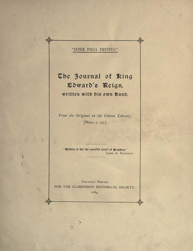 The Clarendon Historical Society's reprints.
