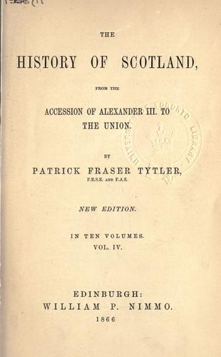 The history of Scotland from the accession of Alexander III. to the union.