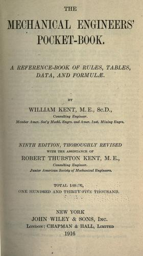 The mechanical engineers' pocket-book.