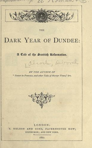 Download The dark year of Dundee