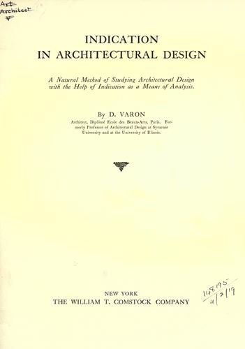 Indication in architectural design