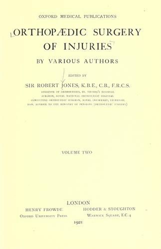 Download Orthopaedic surgery of injuries