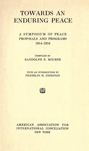 Download Towards an enduring peace