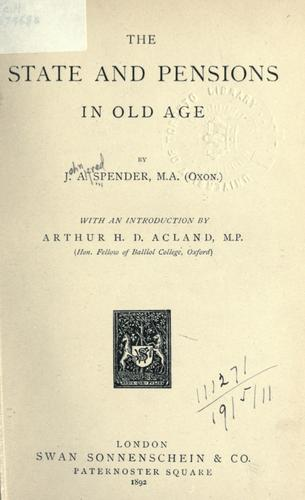 Download The state and pensions in old age