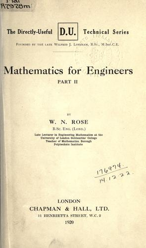 Download Mathematics for engineers.