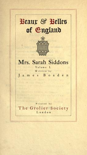 Download Mrs. Sarah Siddons