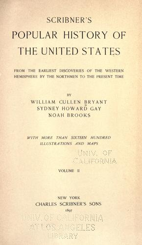 Scribner's popular history of the United States.