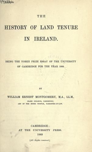 History of land tenure in Ireland.
