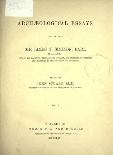 Download Archaeological essays ….