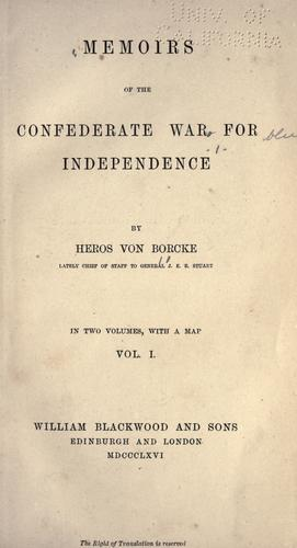 Download Memoirs of the Confederate war for independence.