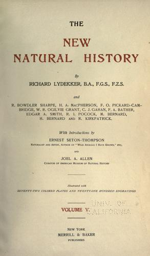 Download The new natural history.