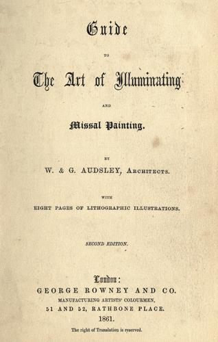 Download Guide to the art of illuminating and missal painting