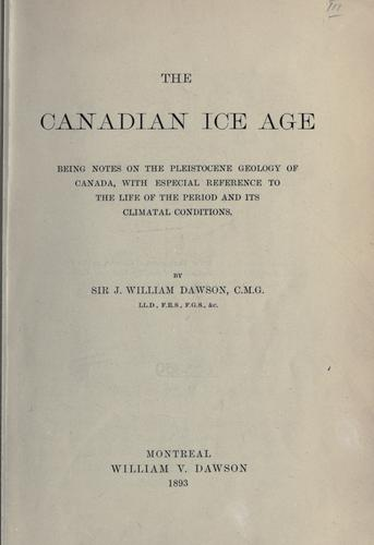 The Canadian ice age