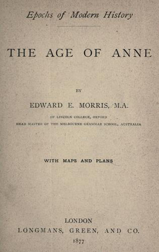 The age of Anne