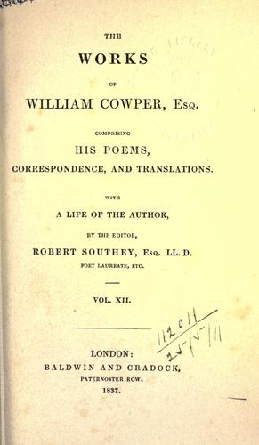 Works, comprising his poems, correspondence, and translations (XII).