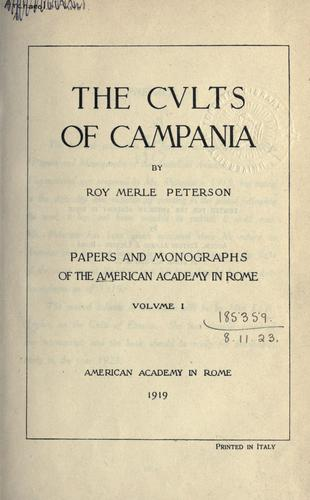 Download The cults of Campania.