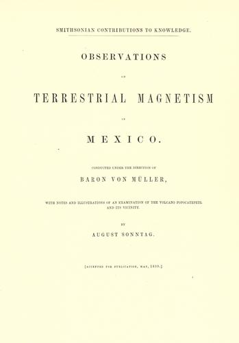 Download Observations on terrestrial magnetism in Mexico