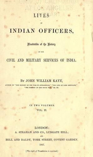 Download Lives of Indian officers