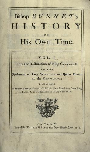 Download Bishop Burnet's history of his own time …