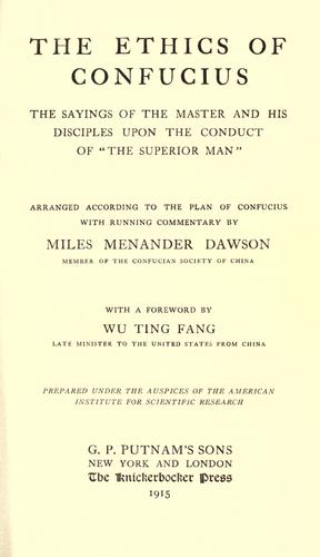 Download The ethics of Confucius