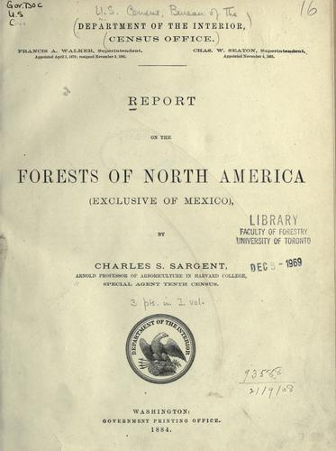 Download Report on the forests of North America, exclusive of Mexico.