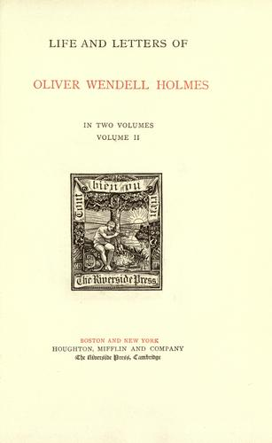 Download Life and letters of Oliver Wendell Holmes