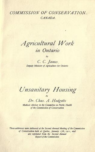 Agricultural work in Ontario