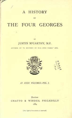 A history of the four Georges.