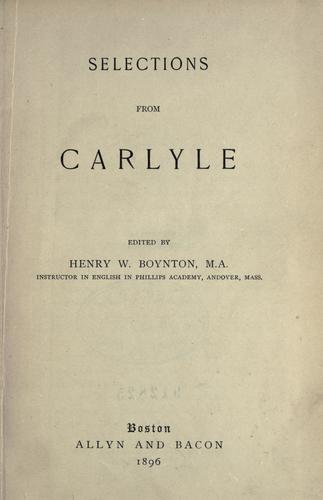 Download Selections from Carlyle.