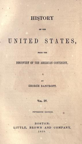 Download History of the United States, from the discovery of the American continent.