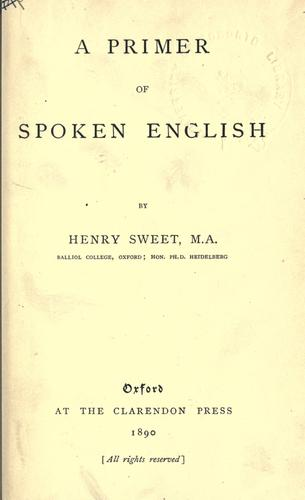 A primer of spoken English.