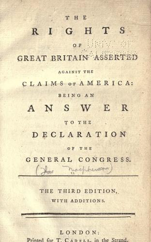 Download The rights of Great Britain asserted against the claims of America