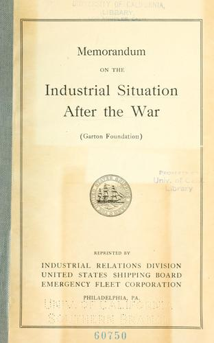 Download Memorandum on the industrial situation after the war.