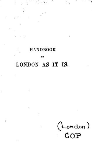 Download Handbook to London as it is.