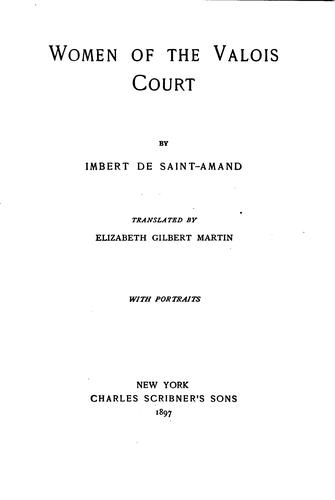 Download Women of the Valois court
