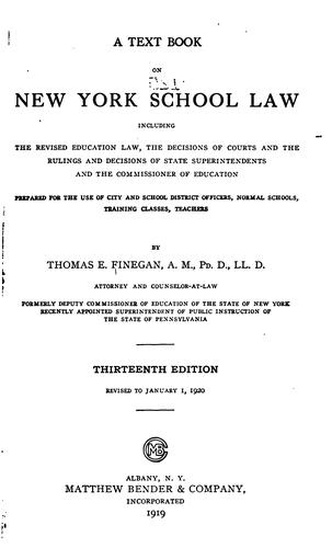 Download A text book on New York school law, including the revised education law