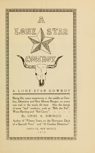 Download A Lone Star cowboy