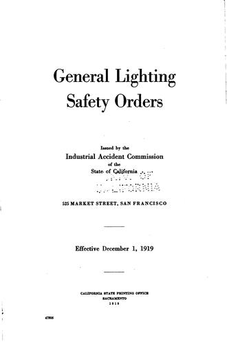 General lighting safety orders.