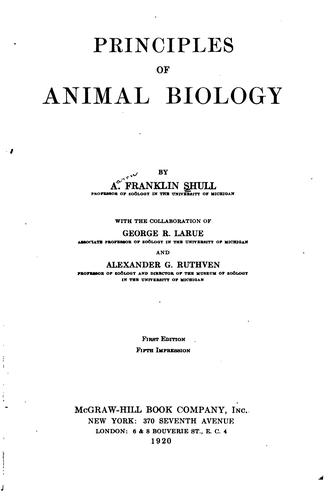 Download Principles of animal biology.
