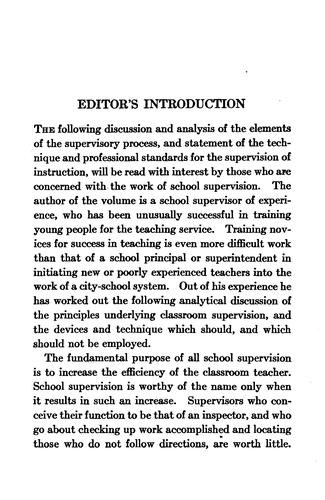 Download The supervision of instruction