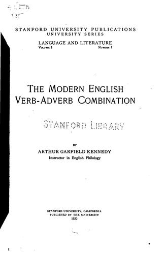 The modern English verb-adverb combination.