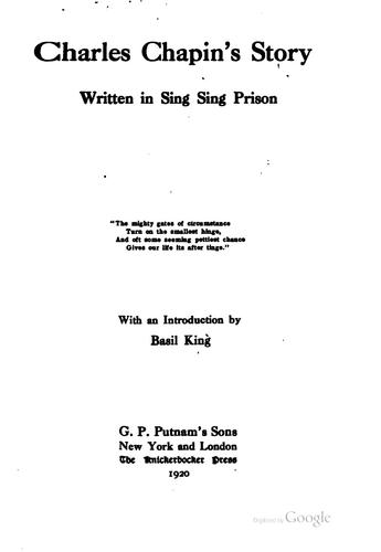 Download Charles Chapin's story written in Sing Sing prison