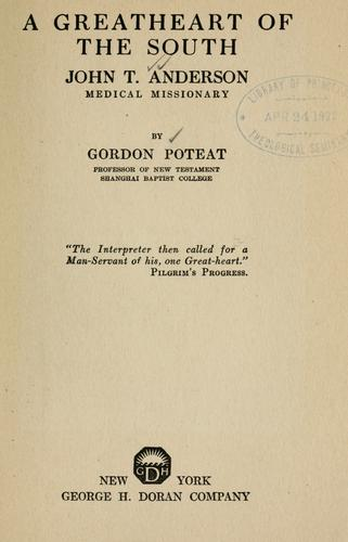 Download A Greatheart of the South