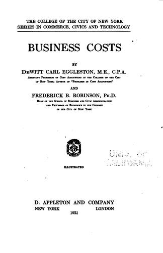 Download Business costs