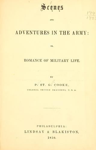 Download Scenes and adventures in the army