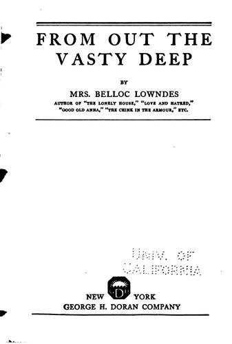 From out the vasty deep