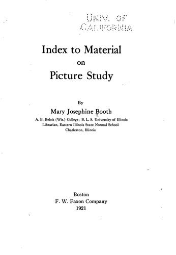 Download Index to material on picture study