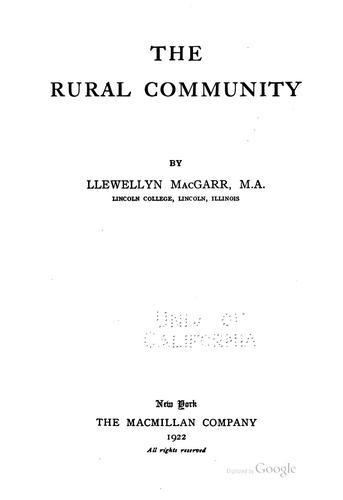 Download The rural community