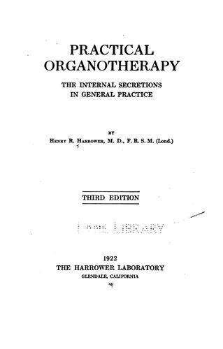Download Practical organotherapy